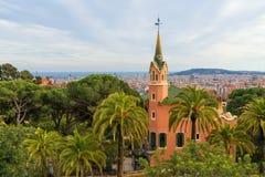 Antonio Gaudi dom w parkowym Guell, Barcelona fotografia royalty free