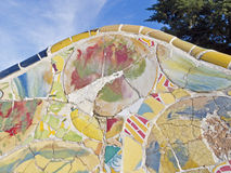 Antonio Gaudi mosaics, in Park Guell Royalty Free Stock Photos