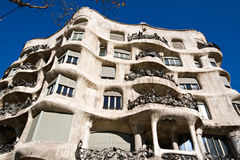 Antonio Gaudi's Casa Mila in Barcelona Royalty Free Stock Image