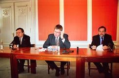ANTONIO GUTERRES Z DUŃSKIM PIERWSZORZĘDNYM ministrem I UE Zdjęcie Royalty Free