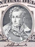 Antonio Jose de Sucre stående Arkivbild