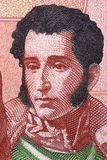 Antonio Jose de Sucre stående arkivfoton