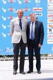 Antonio Laudati και Corrado Lembo στο φεστιβάλ 2016 ταινιών Giffoni Στοκ Φωτογραφίες