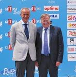 Antonio Laudati και Corrado Lembo στο φεστιβάλ 2016 ταινιών Giffoni Στοκ φωτογραφία με δικαίωμα ελεύθερης χρήσης