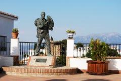 Antonio Miguel Gallego Romero statue, Comares. Stock Photo