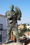 Antonio Miguel Gallego Romero statue, Comares. Stock Photography