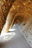 antonio projektujący szczegółu gaudi guell park Fotografia Royalty Free