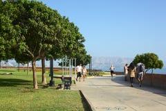 Antonio Raimondi Park i Miraflores, Lima, Peru Royaltyfria Bilder