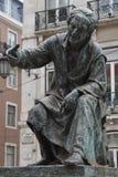 Antonio Ribeiro bronze monument, Lisbon, Portugal Stock Photos