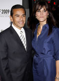 Antonio Villaraigosa and Lu Parker Royalty Free Stock Photos