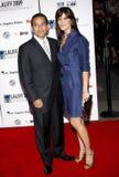 Antonio Villaraigosa and Lu Parker Royalty Free Stock Photo
