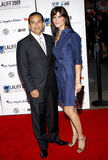 Antonio Villaraigosa und Lu Parker Lizenzfreies Stockfoto