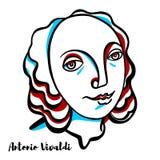 Antonio Vivaldi Portrait vector illustration