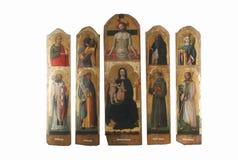 Antonio Vivarini: Polyptych de la Virgen y del niño con los santos Imágenes de archivo libres de regalías