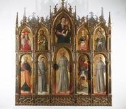 Antonio y Bartolomeo Vivarini: Polyptych de la Virgen y del niño con los santos Imagen de archivo libre de regalías