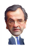 Antonis Samaras Caricature Portrait Royalty Free Stock Photos