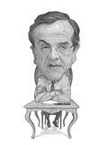 Antonis Samaras Caricature Sketch Royalty Free Stock Image