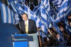 Antonis Samaras Greek Primeminister Stock Images