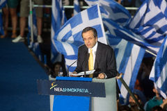 Antonis Samaras Greek Primeminister Royalty Free Stock Photos