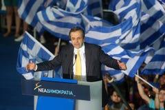 Antonis Samaras Greek Primeminister Stock Photos