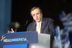 Antonis Samaras Greek Primeminister Royalty Free Stock Image