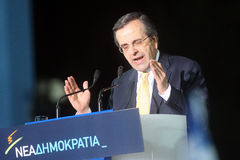 Antonis Samaras Greek Primeminister Royalty Free Stock Photography
