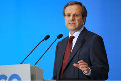 Antonis Samaras in Thessaloniki Royalty Free Stock Image