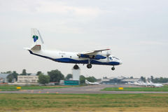Antonov ένας-26 αεροπλάνο μεταφοράς εμπορευμάτων Στοκ φωτογραφίες με δικαίωμα ελεύθερης χρήσης