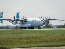 Antonov ένας-22 αεροπλάνο μεταφοράς εμπορευμάτων Στοκ εικόνες με δικαίωμα ελεύθερης χρήσης