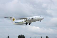 Antonov ένας-148 περιφερειακό αεροπλάνο Στοκ Εικόνες