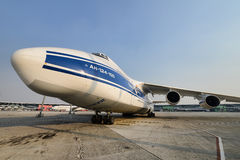 Antonov An-124-100. Of Volga-Dnepr Airlines (HeavyLift - Volga-Dnepr royalty free stock photo