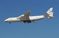 Antonov An-225 besichtigt Miami Lizenzfreie Stockfotos