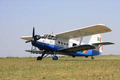 Antonov AN2 airplane. Romanian biplane Antonov AN2 in an airshow stock image
