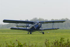 Antonov Biplane. An Antonov Biplane ready for take off stock photo