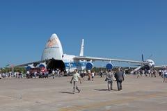 Antonov een-124-100 Ruslan Royalty-vrije Stock Foto's