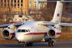 Antonov An-148-100EM RA-61715 do ministério da situação de emergência Imagens de Stock