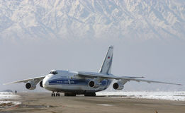 ANTONOV 124 - 100. Kabul afghanistan transport RA 82047 VOLGA DNEPR stock photo
