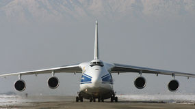 ANTONOV 124 - 100. Kabul afghanistan transport RA 82047 VOLGA DNEPR royalty free stock photography