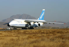 ANTONOV 124 - 100. Kabul afghanistan transport UR - 82029 VOLGA DNEPR royalty free stock photography