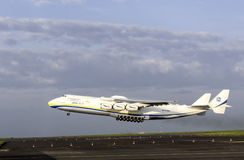 Antonov An-225 Mriya cargo plane. Departing from Prague airport Royalty Free Stock Photography