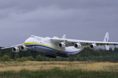 Antonov-225 Mriya decolam Imagem de Stock Royalty Free