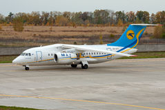 Antonov An-148 nivå Fotografering för Bildbyråer