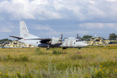 Antonov An-26 plane landed. Rostov-on-Don, Russia, June 28, 2011 royalty free stock photography