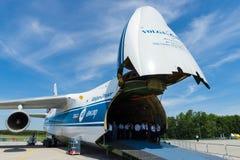 Antonov An-124 Ruslan es un avión de jet del transporte Foto de archivo