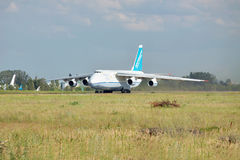 Antonov An-124 'Ruslan'. Gostomel, Ukraine - July 20, 2012: Antonov Airlines An-124 'Ruslan' is taking off from runway Stock Photos