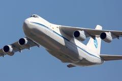 Antonov An-124 Ruslan indicato a 100 anni di anniversario delle aeronautiche russe in Žukovskij Immagine Stock