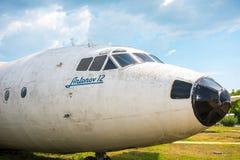 Antonov 12 samolot obraz stock