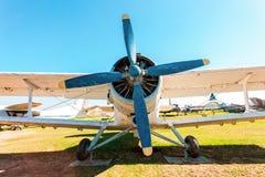 The Antonov An-2 a Soviet mass-produced single-engine biplane at Royalty Free Stock Image