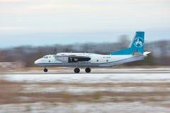 Antonov An-26 takeoff Royalty Free Stock Photography