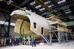 Antonov 70th anniversary. May 31, 2016. Kiev, Ukraine. Construction of new AN-225 Mriya on Antonov State Company royalty free stock photos